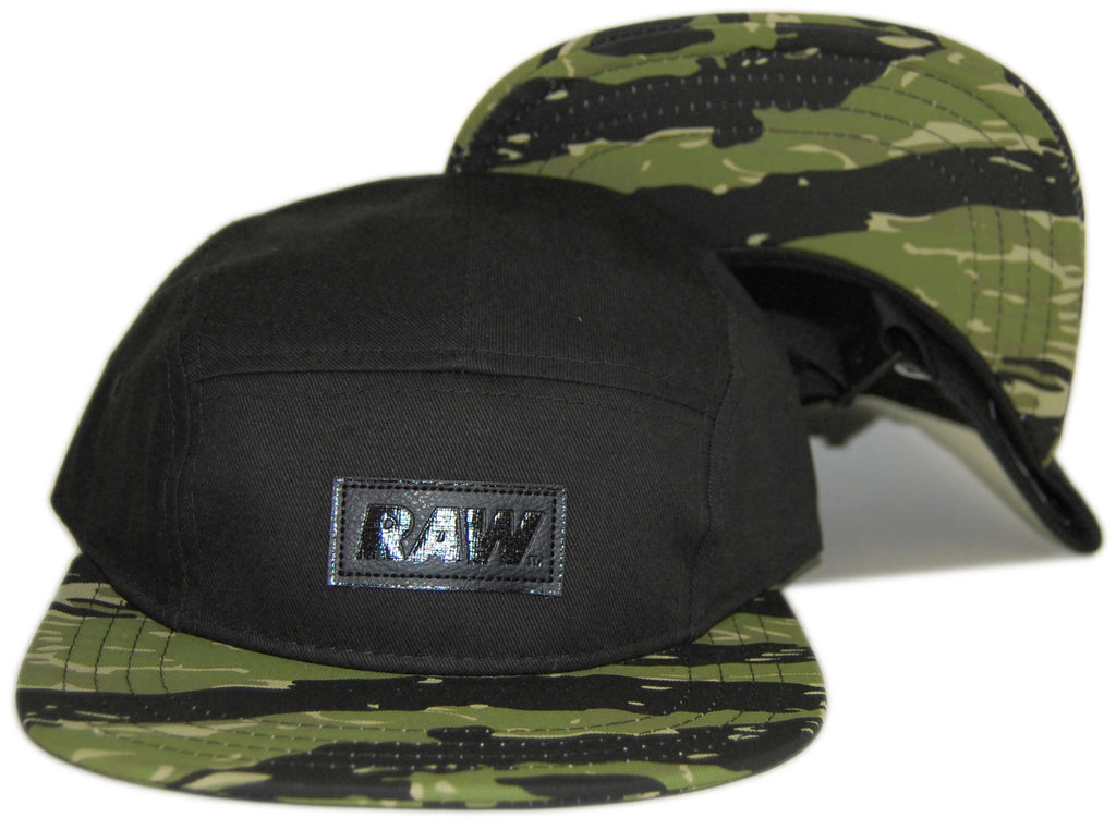 <!--020130219054122-->RAW - 'Jonah Miller Camo - Tiger Stripe' [(Black) Five Panel Camper Hat]