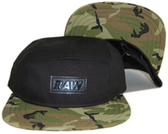 RAW - 'Jonah Miller Camo - Woodland' [(Black) Five Panel Camper Hat]