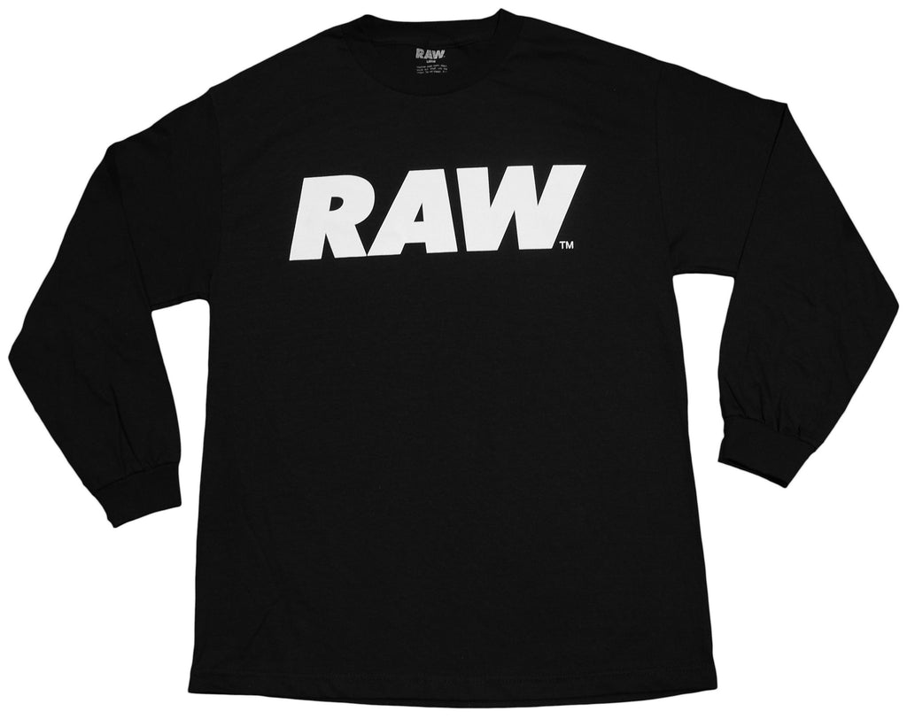 <!--2013021929-->RAW - 'Logo - White' [(Black) Long Sleeve Shirt]