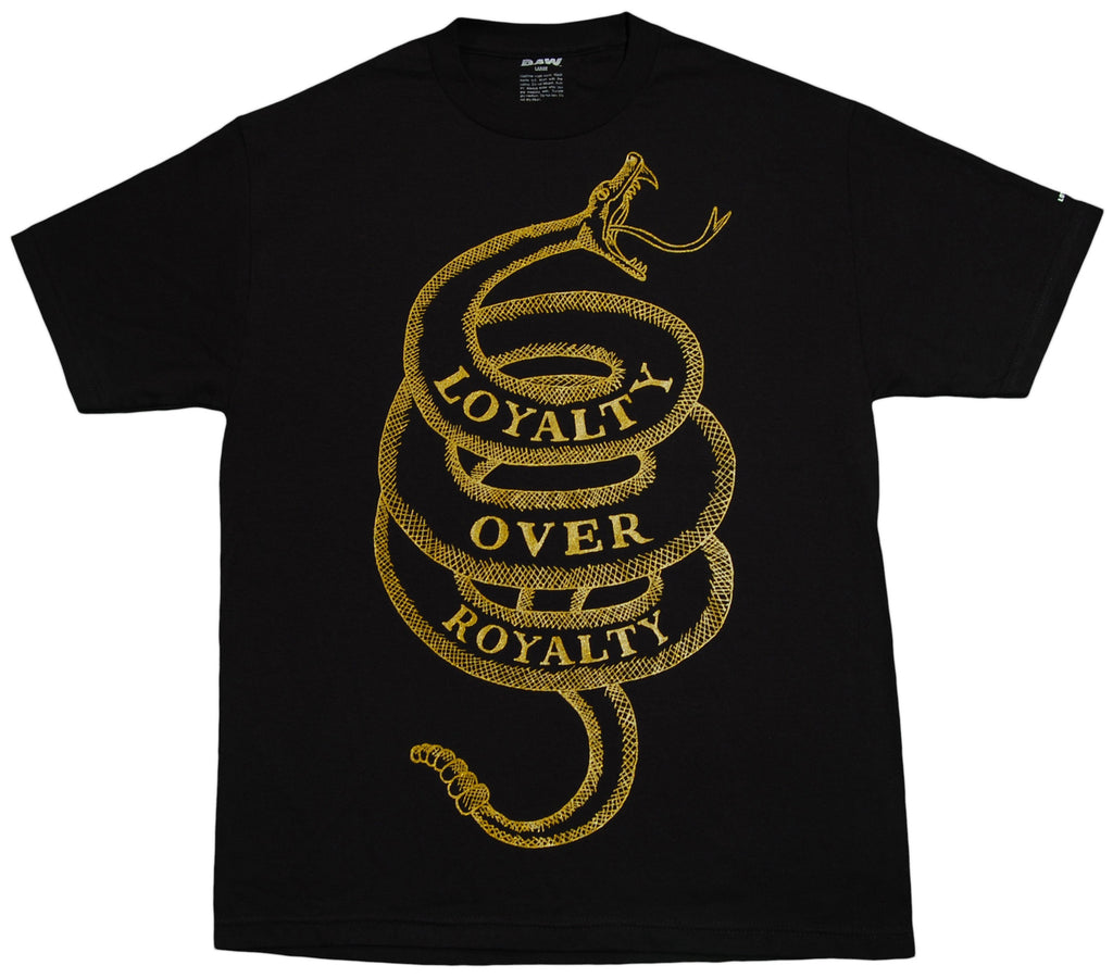 <!--2013021952-->RAW - 'Loyalty Over Royalty - Gold Edition' [(Black) T-Shirt]