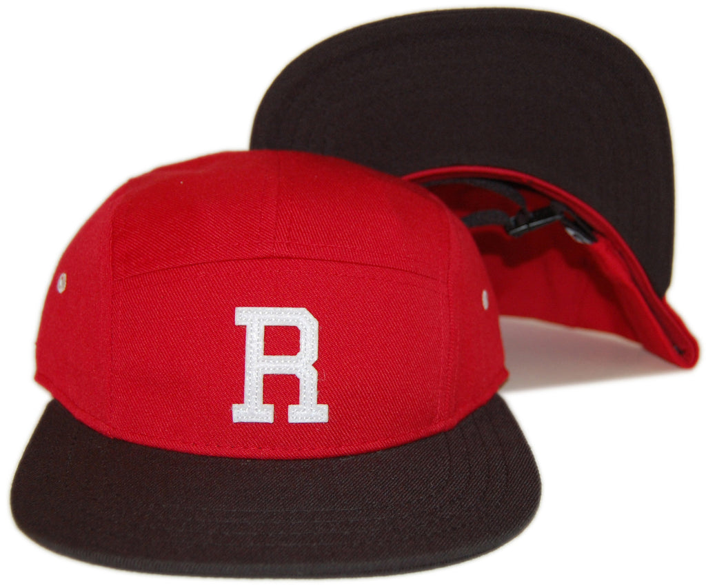 <!--020130604056858-->RAW - 'Varsity R' [(Red) Five Panel Camper Hat]