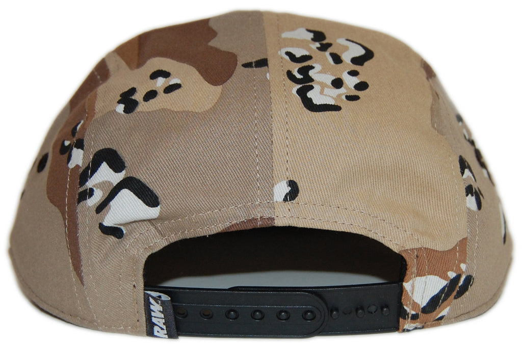 <!--2012081403-->RAW - 'Logo - Desert Camo' [(Camo Pattern) Five Panel Camper Hat]