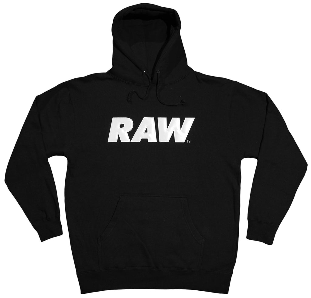 <!--2012081438-->RAW - 'Logo Applique  - Black/ White' [(Black) Hooded Sweatshirt]