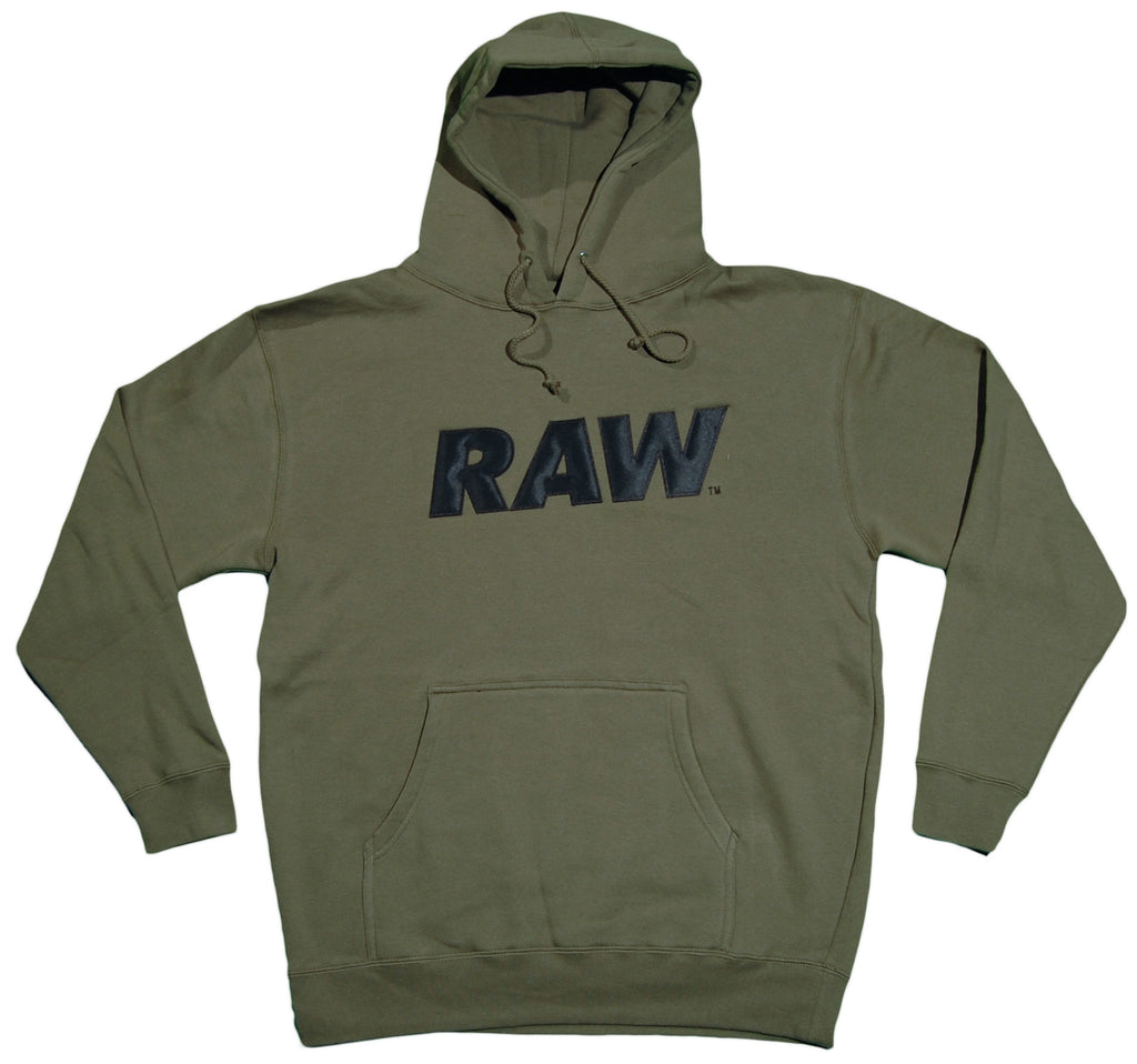 <!--2012081434-->RAW - 'Logo Applique' [(Dark Green) Hooded Sweatshirt]