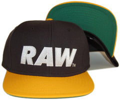 <!--020120814048102-->RAW - 'Logo - Black/ Yellow' [(Black) Snap Back Hat]