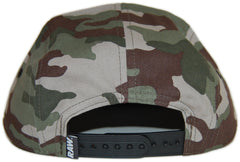 <!--2012081447-->RAW - 'Logo - Woodland Camo' [(Camo Pattern) Five Panel Camper Hat]