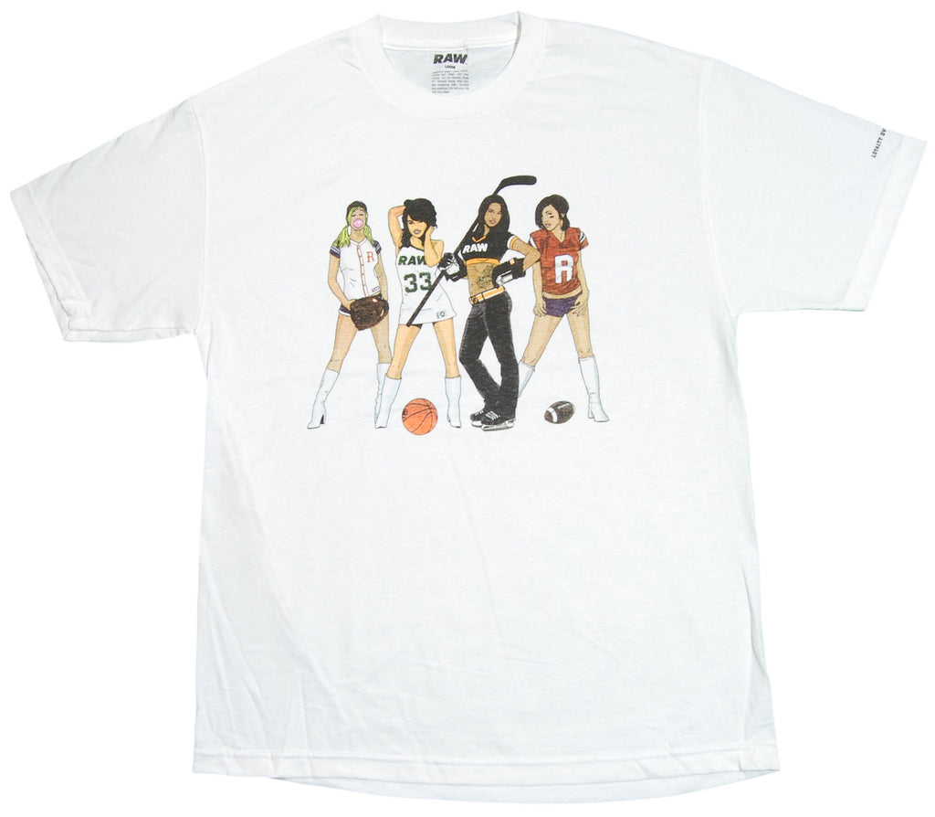 <!--2012081441-->RAW x Jonah Miller - 'Team Spirit Group' [(White) T-Shirt]