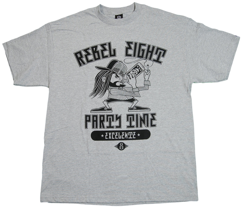 <!--2011052430-->REBEL8 - 'Party Time Excelente' [(Gray) T-Shirt]