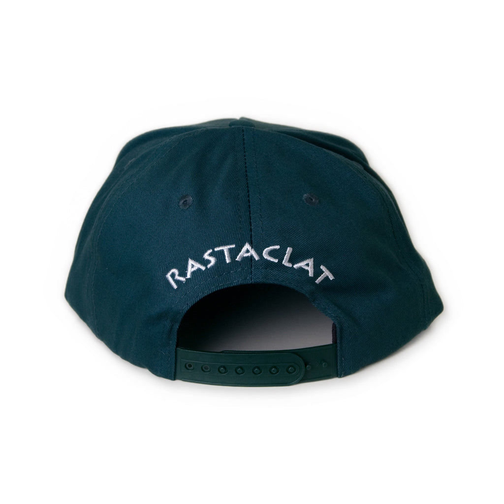 <!--020131125061446-->Rastaclat - 'Lion Logo' [(Dark Green) Snap Back Hat]