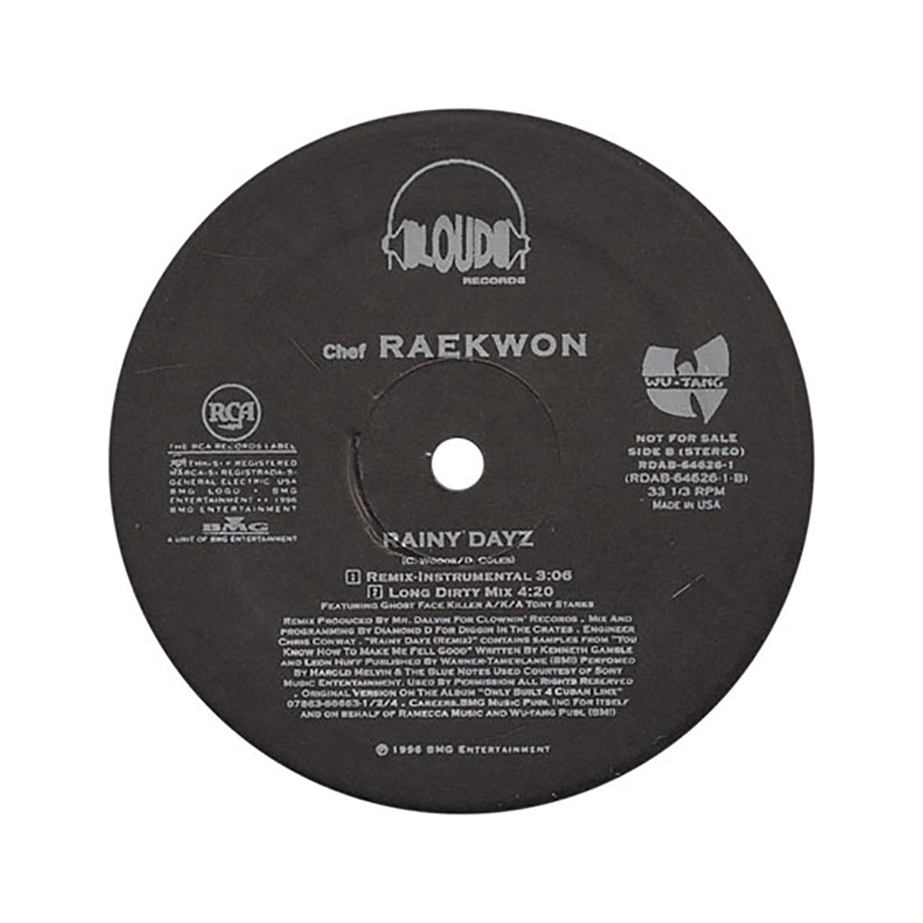 "<!--1996010107-->Raekwon - 'Rainy Dayz/ Rainy Dayz (Remix)' [(Black) 12"" Vinyl Single]"