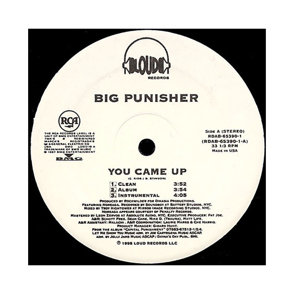 "<!--019980101013716-->Big Pun - 'You Came Up/ Twinz (Deep Cover 98)' [(Black) 12"" Vinyl Single]"