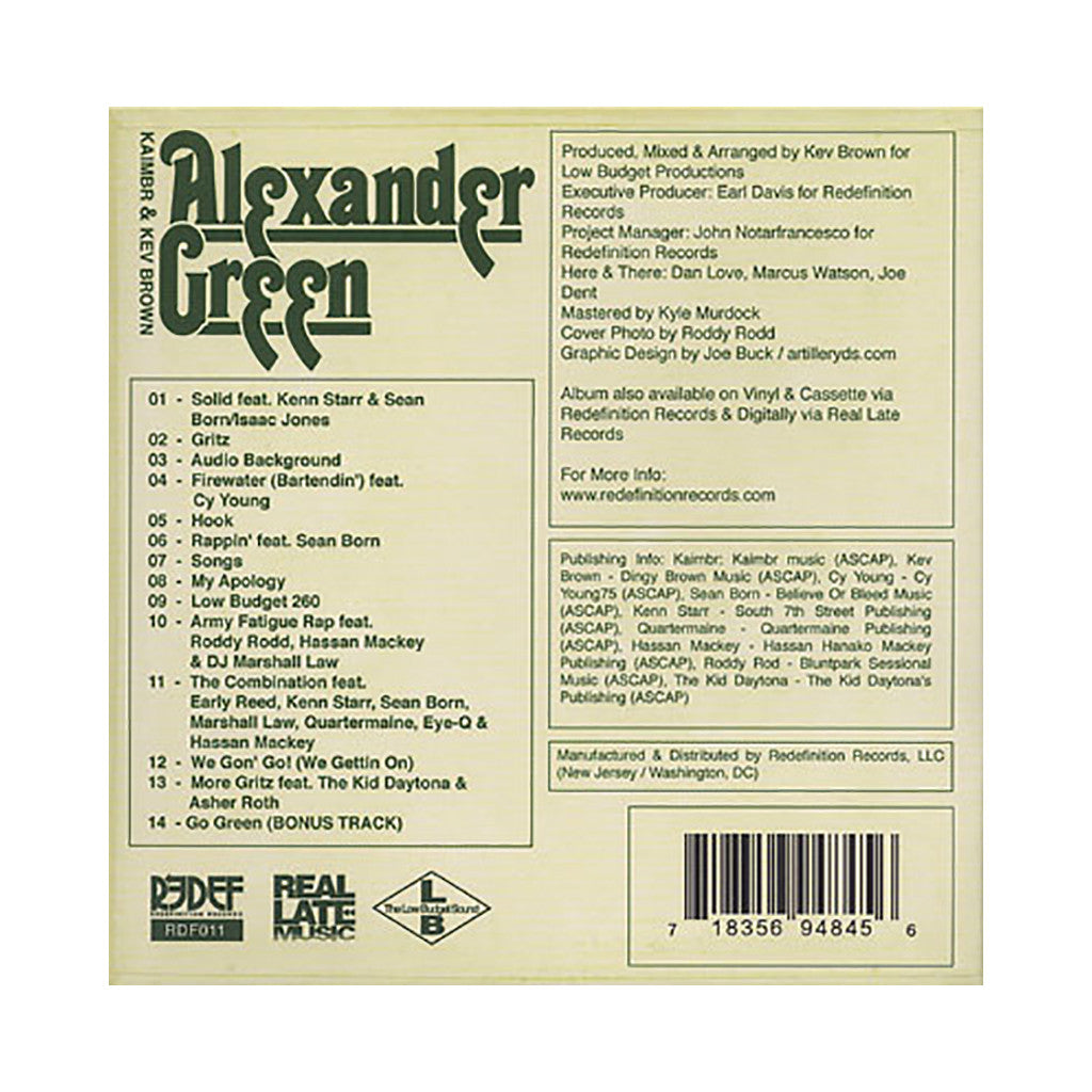 Kaimbr & Kev Brown - 'The Alexander Green Project' [CD]