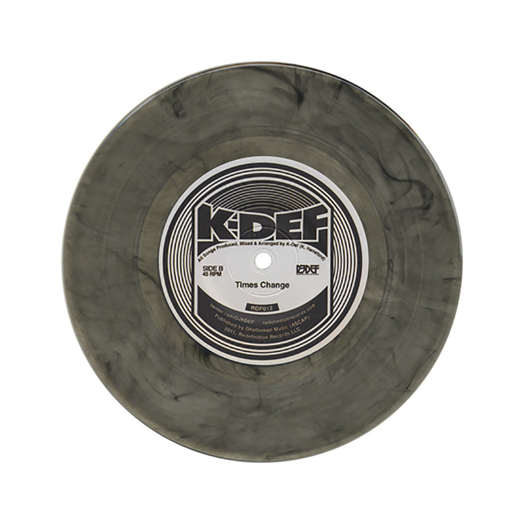 "<!--020110802033292-->K-Def - 'For Def's Sake/ Bird Flying High/ Times Change' [(Smoke Gray) 7"" Vinyl Single]"