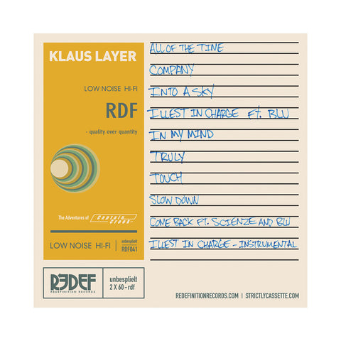 Klaus Layer - 'The Adventures Of Captain Crook' [Cassette Tape]