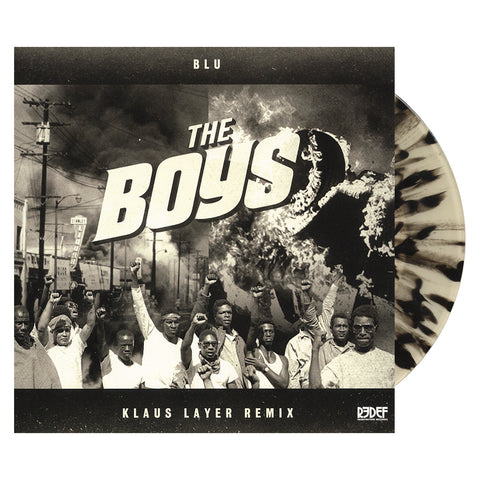 "Klaus Layer & Blu - 'The Boys (Remix)' [(Clear w/ Black Splatter) 7"" Vinyl Single]"
