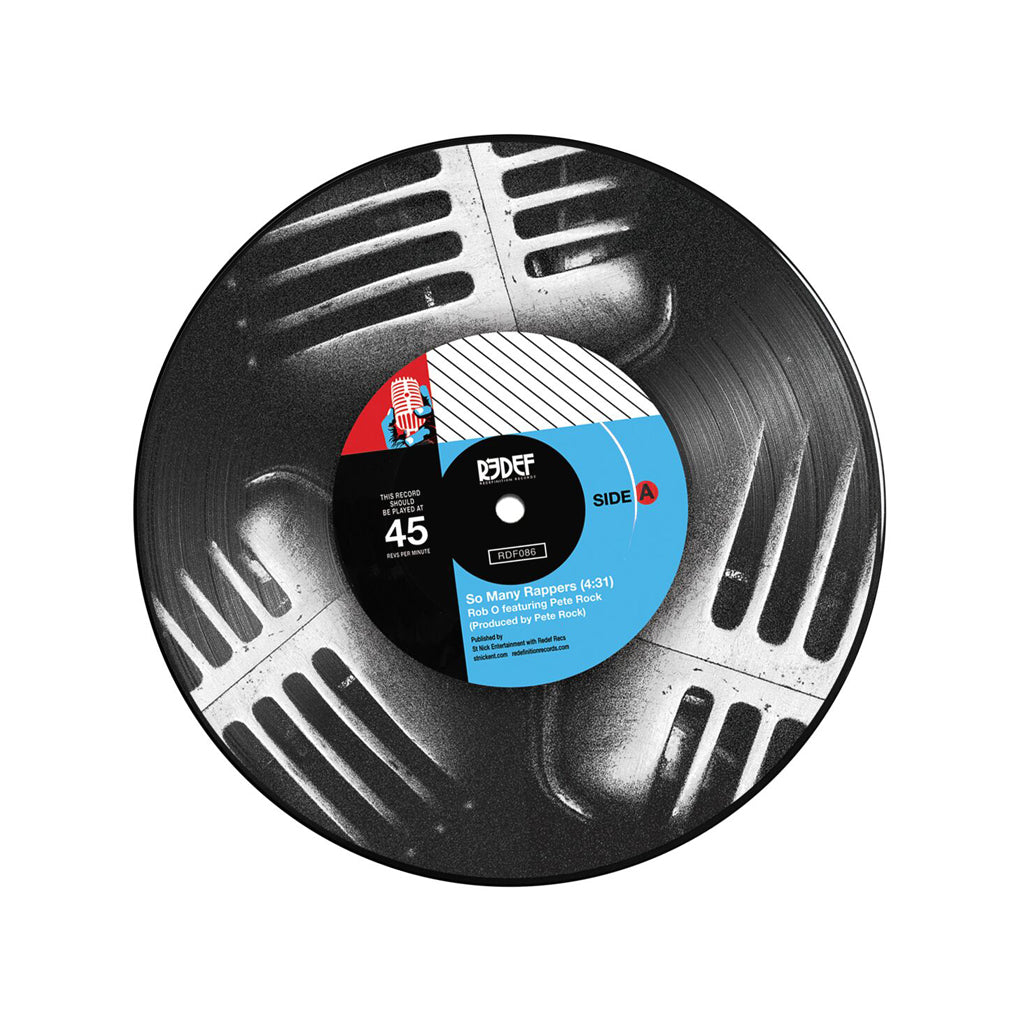 "Rob-O b/w Meccalicious - 'So Many Rappers b/w Meccalicious' [(Picture Disc) 7"" Vinyl Single]"