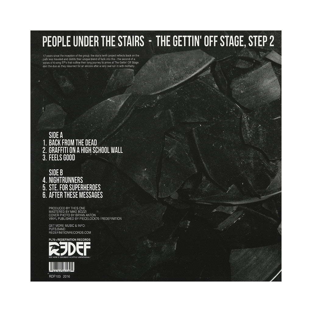 People Under The Stairs - 'The Gettin' Off Stage, Step 2' [(Black & White Blend) Vinyl EP]