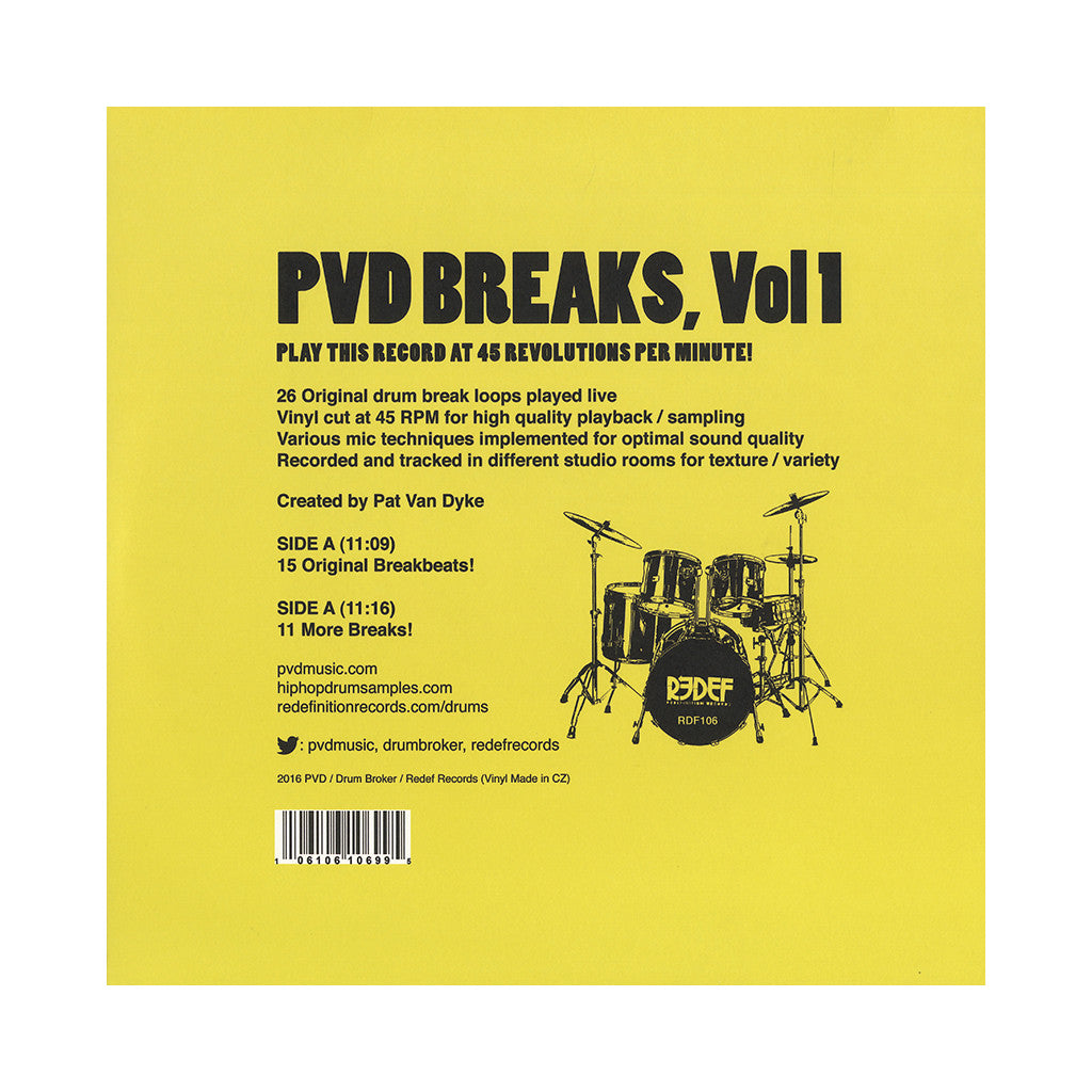 PVD - 'PVD Breaks Vol. 1 - 26 Original Royalty-Free Breakbeats!' [(Black) Vinyl LP]
