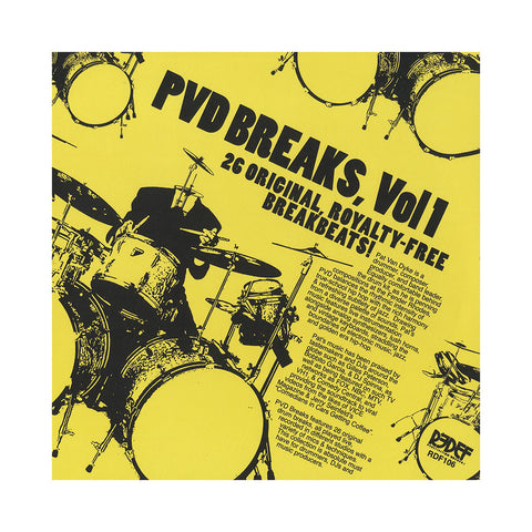 "[""PVD - 'PVD Breaks Vol. 1 - 26 Original Royalty-Free Breakbeats!' [(Black) Vinyl LP]""]"