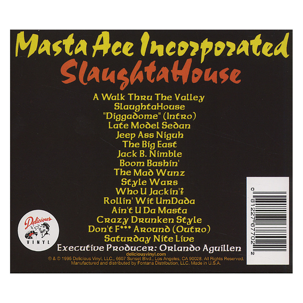<!--120010220002249-->Masta Ace Incorporated - 'Slaughtahouse' [CD]