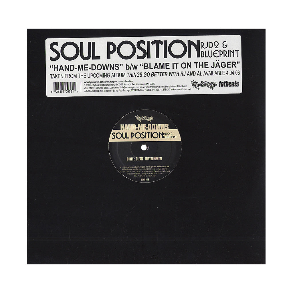 <!--2006050232-->Soul Position - 'Hand-Me-Downs (INSTRUMENTAL)' [Streaming Audio]