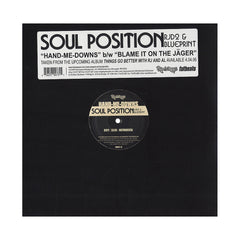 "<!--020060328006950-->Soul Position - 'Hand-Me-Downs/ Blame It On The Jager' [(Black) 12"" Vinyl Single]"
