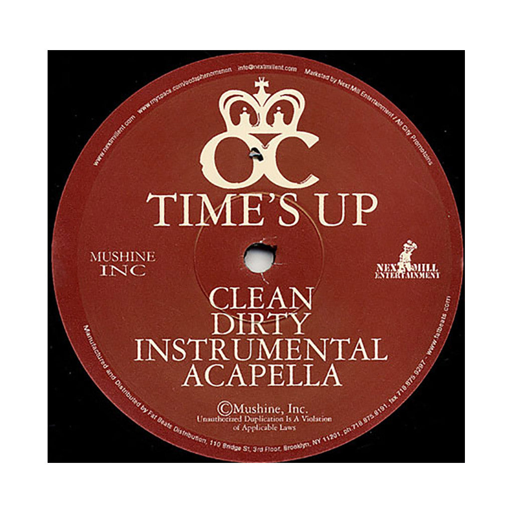 "<!--2004083119-->O.C. - 'Time's Up/ Time's Up (Remix)' [(Black) 12"" Vinyl Single]"