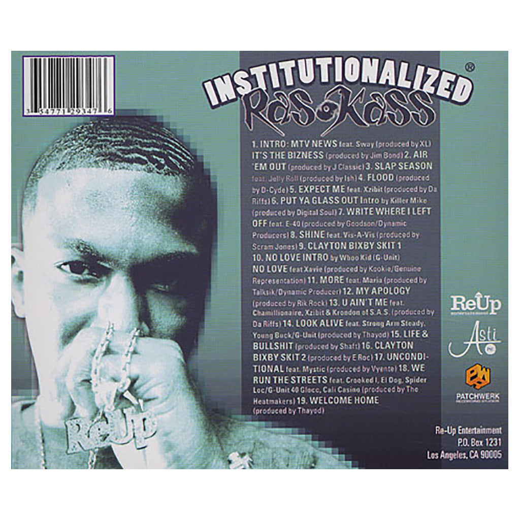 <!--120051004005511-->Ras Kass - 'Institutionalized Vol. 1' [CD]