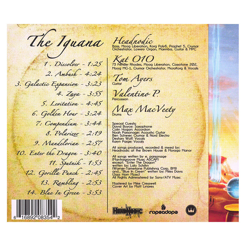 <!--020121023052306-->Headnodic - 'The Iguana' [CD]