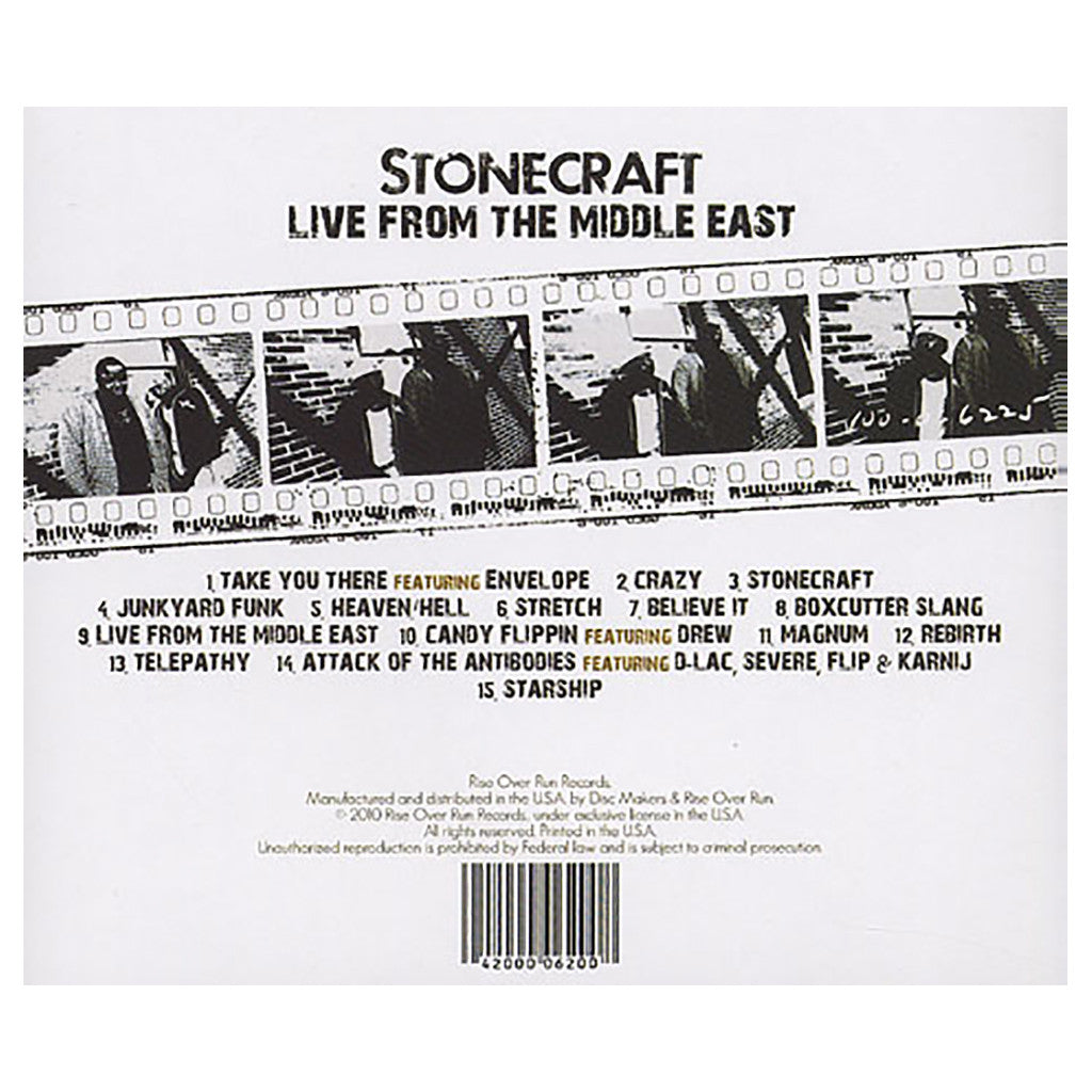 Stonecraft - 'Live From The Middle East' [CD]