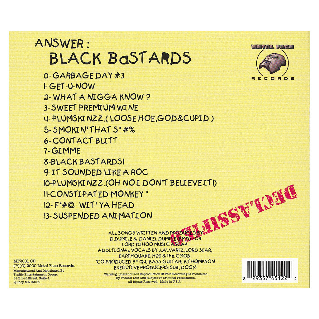 <!--2008100710-->KMD - 'Black Bastards' [CD]