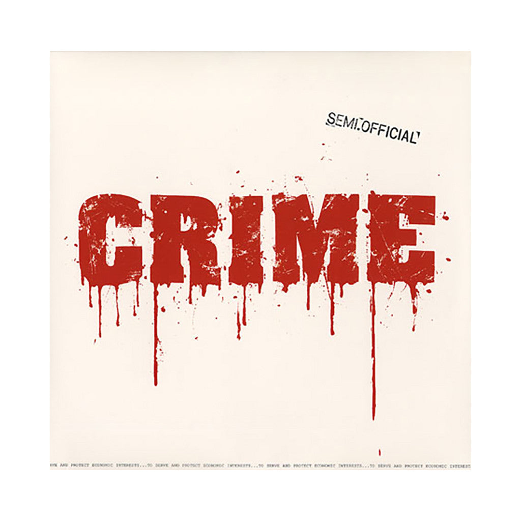 "Semi.Official - 'Crime/ P.A.A. (Remix)/ Songs In The Key Of Trife' [(Black) 12"" Vinyl Single]"