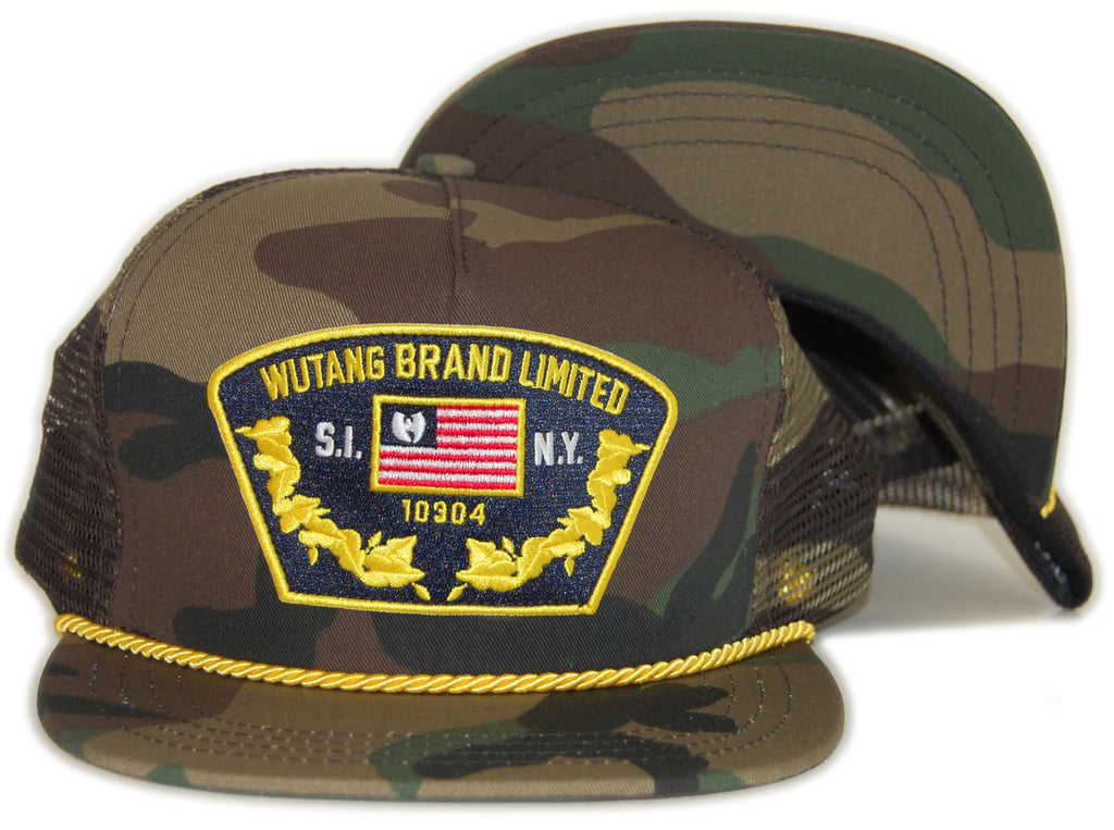 <!--020120424040624-->Wu-Tang Brand LTD - 'Wu Captain' [(Camo Pattern) Snap Back Hat]