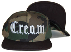 <!--020120731041566-->Wu-Tang Brand LTD - 'Creamton' [(Camo Pattern) Snap Back Hat]