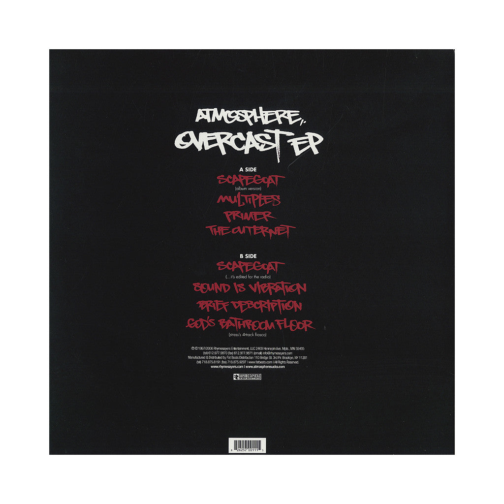 Atmosphere - 'Overcast!' [(Black) Vinyl EP]