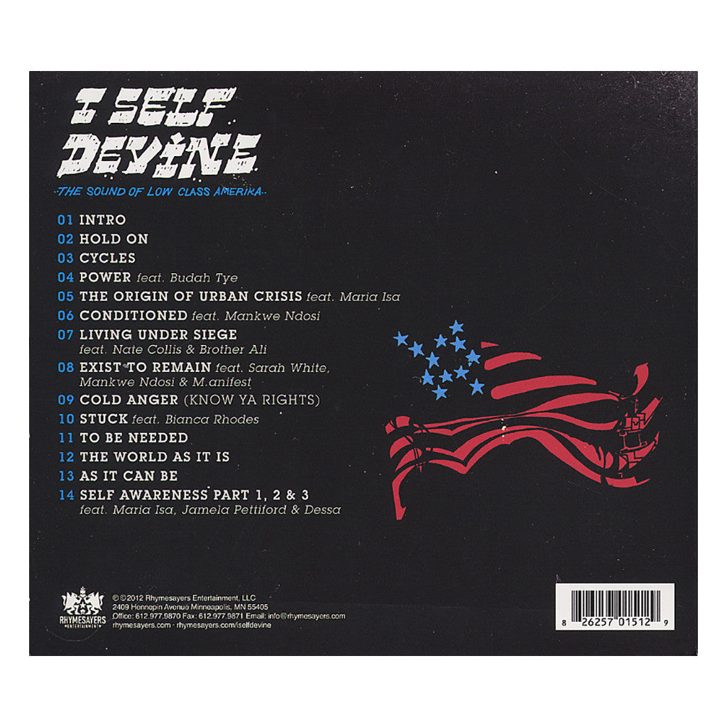 I Self Devine - 'The Sound Of Low Class Amerika' [CD]