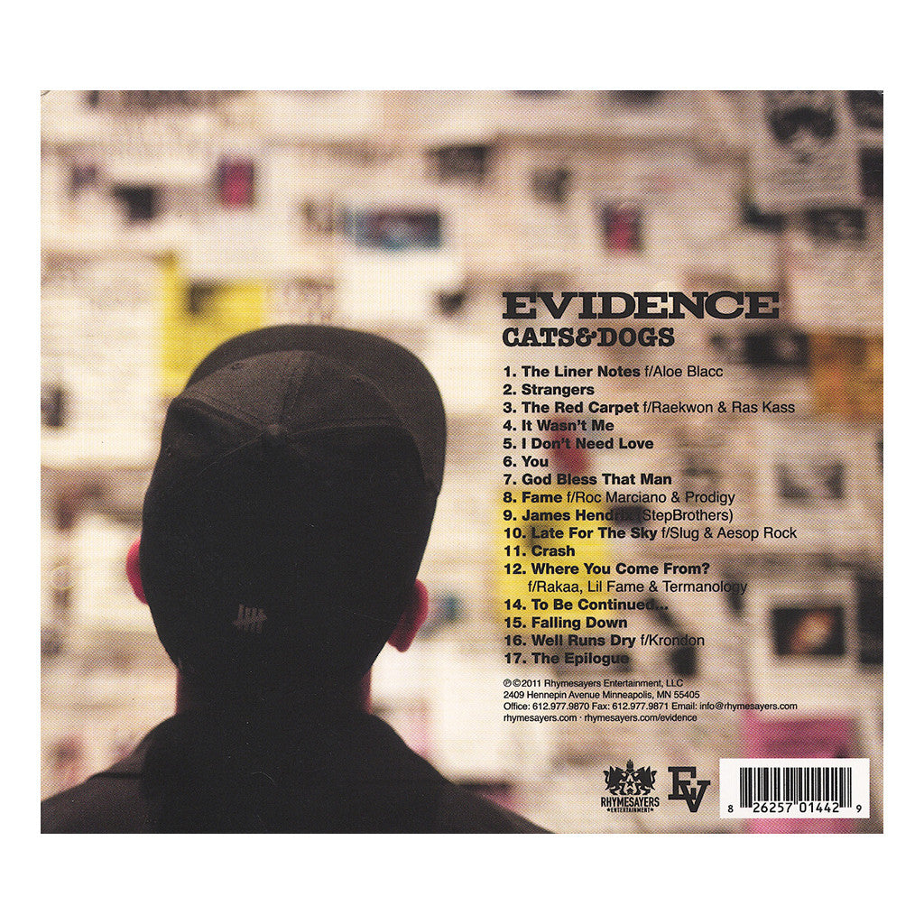 <!--120110927032768-->Evidence - 'Cats & Dogs' [CD]