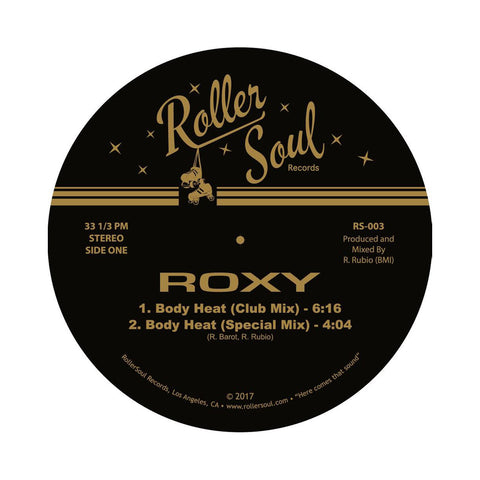 "[""Roxy - 'Body Heat/ Midnight Lover' [(Black) 12\"" Vinyl Single]""]"