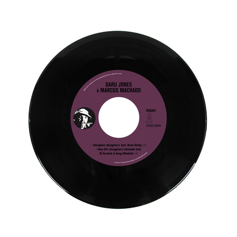 "Daru Jones x Marcus Machado - 'Discipline/Nice Girl/ Meat Grinder' [(Black) 7"" Vinyl Single]"