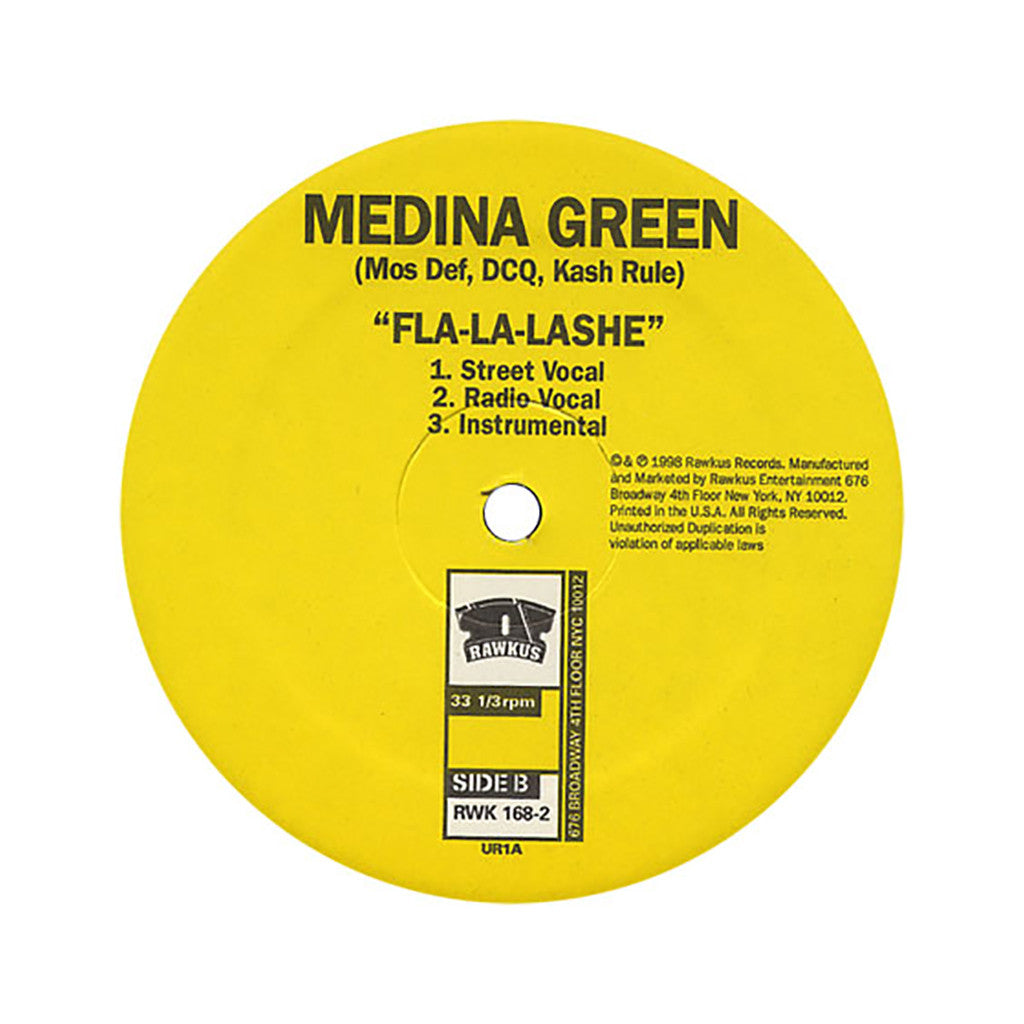 "<!--019980101010694-->Medina Green - 'Crosstown Beef/ Fla-La-Lashe' [(Black) 12"" Vinyl Single]"