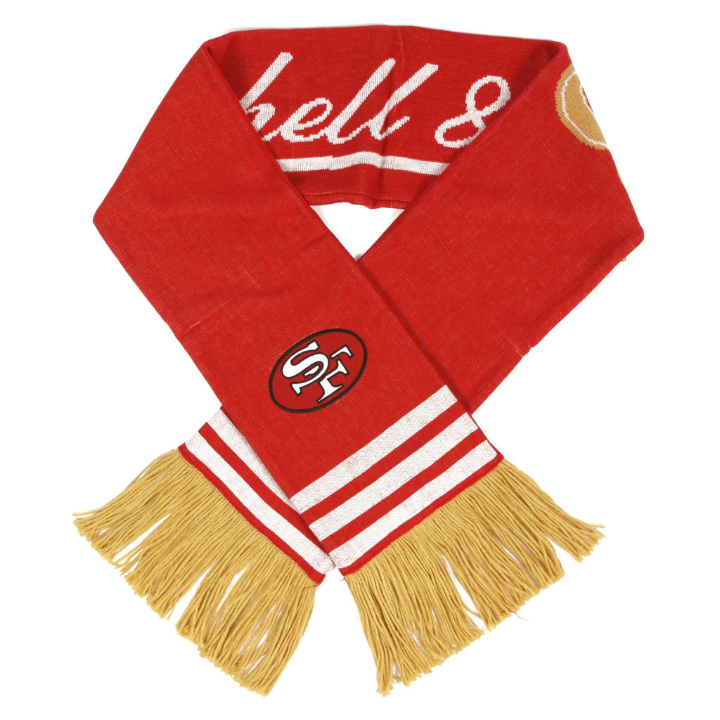 <!--020121009049945-->Mitchell & Ness x NFL - 'San Francisco 49ers - NFL Throwback Team Knit Scarf' [(Red) Scarf]