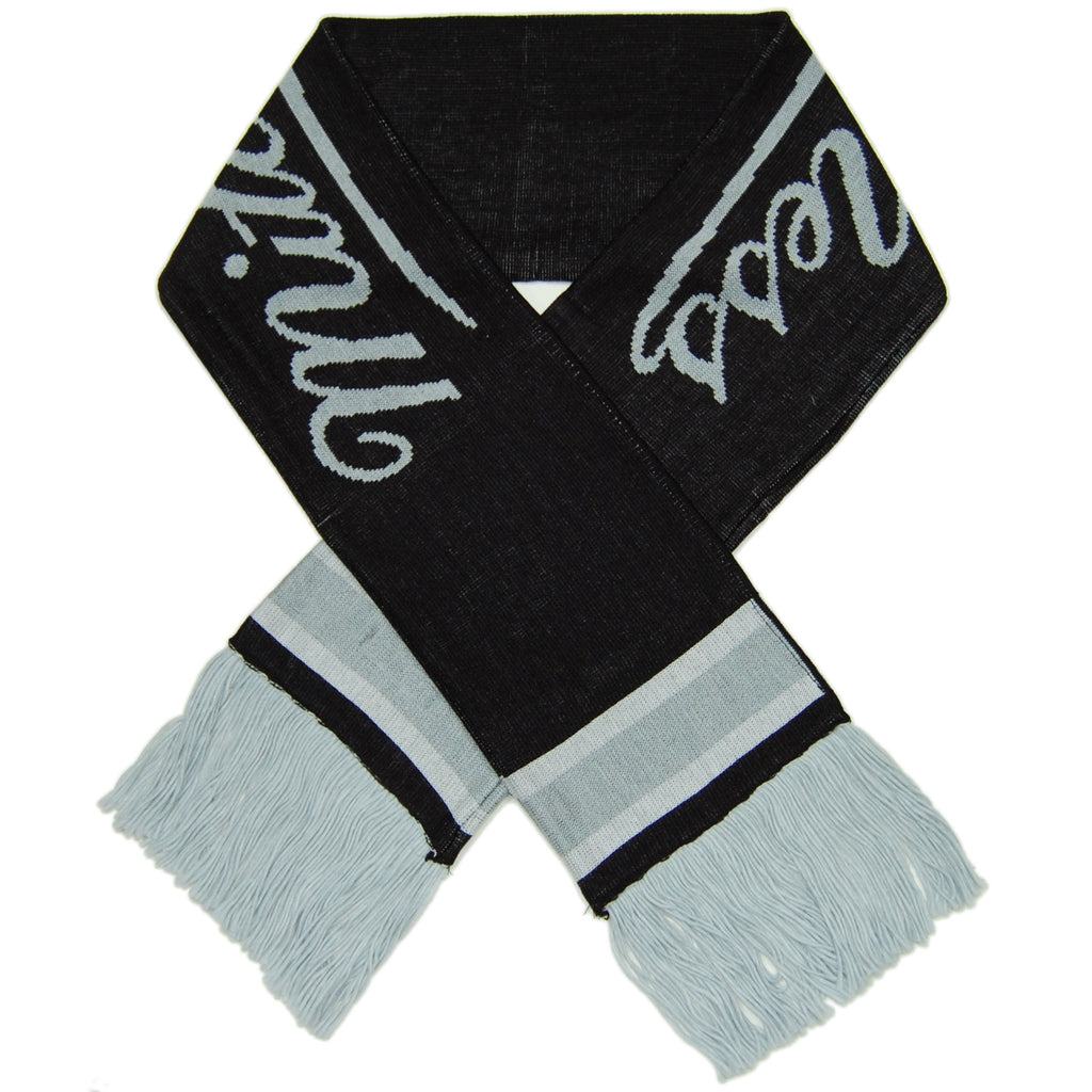 <!--020121016050323-->Mitchell & Ness - 'M&N Branded Knit Scarf' [(Black) Scarf]