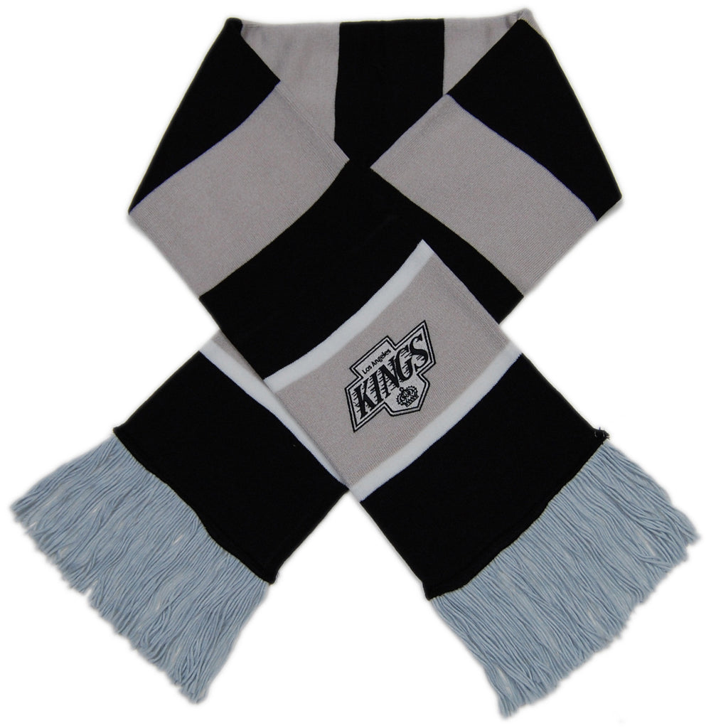 <!--020121120051397-->Mitchell & Ness x NHL - 'Los Angeles Kings - NHL Vintage Knit Team Striped' [(Gray) Scarf]