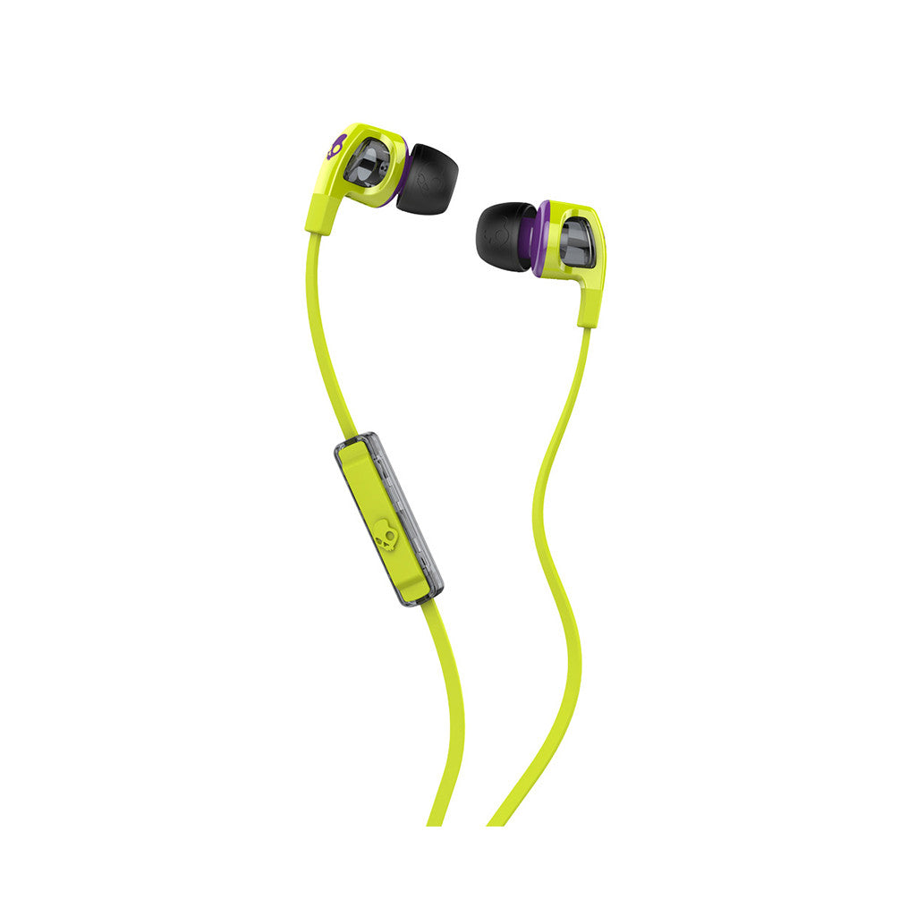 <!--020140319062937-->Skullcandy - 'Smokin Buds 2.0 w/ Mic' [(Hot Lime/ Purple) Earbuds]