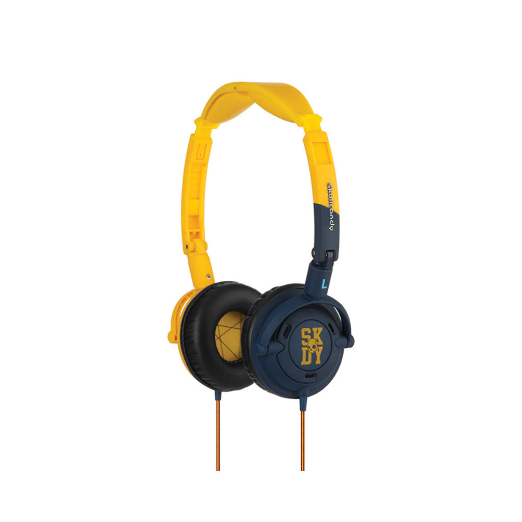 <!--020110614031390-->Skullcandy - 'Lowrider w/ Mic' [(Yellow/ Navy) Headphones]