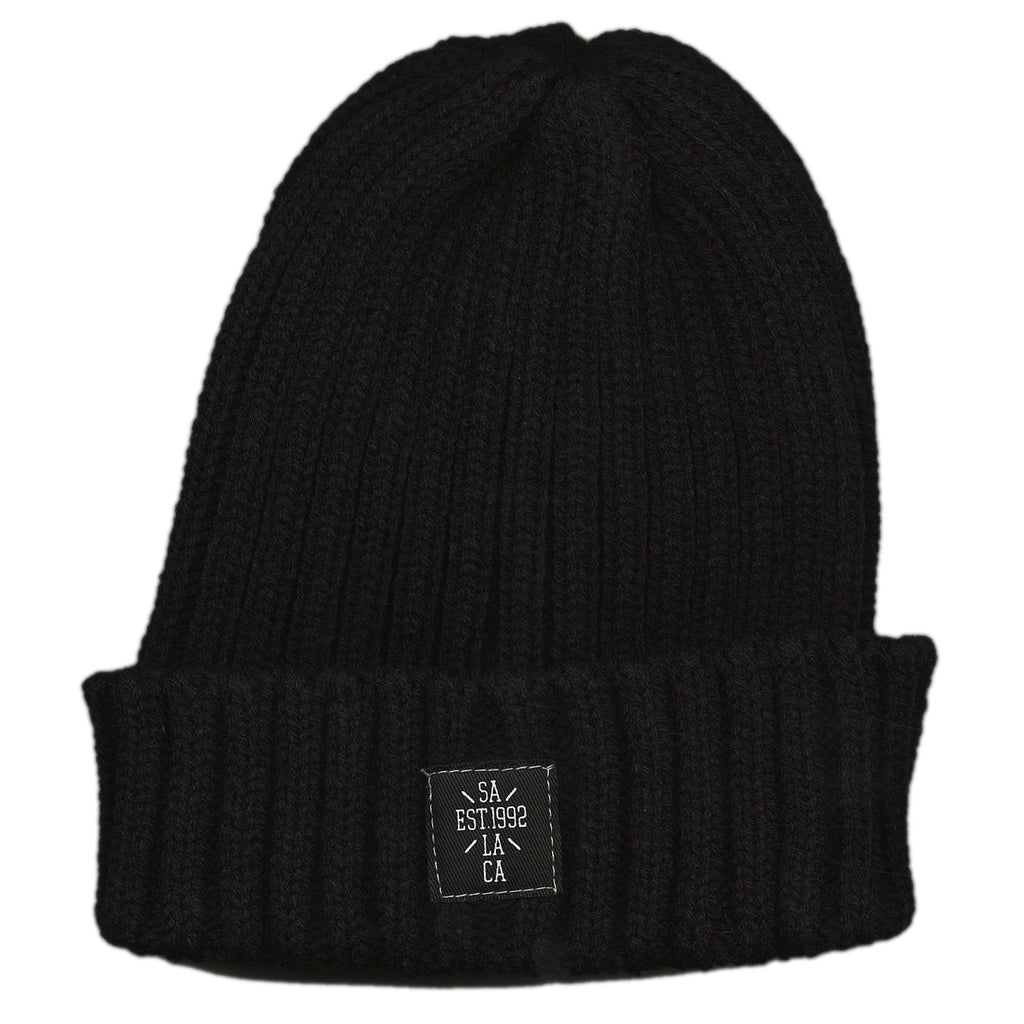 Soul Assassins - 'Cross Fold Beanie' [(Black) Winter Beanie Hat]