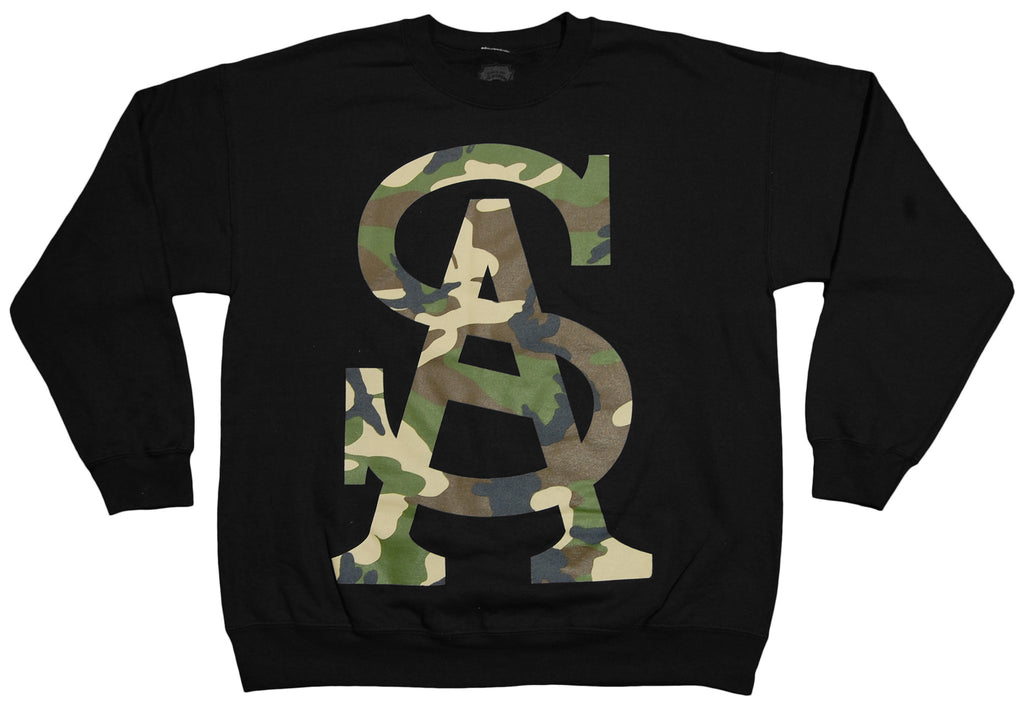 <!--2012100240-->Soul Assassins - 'SA Camo' [(Black) Crewneck Sweatshirt]