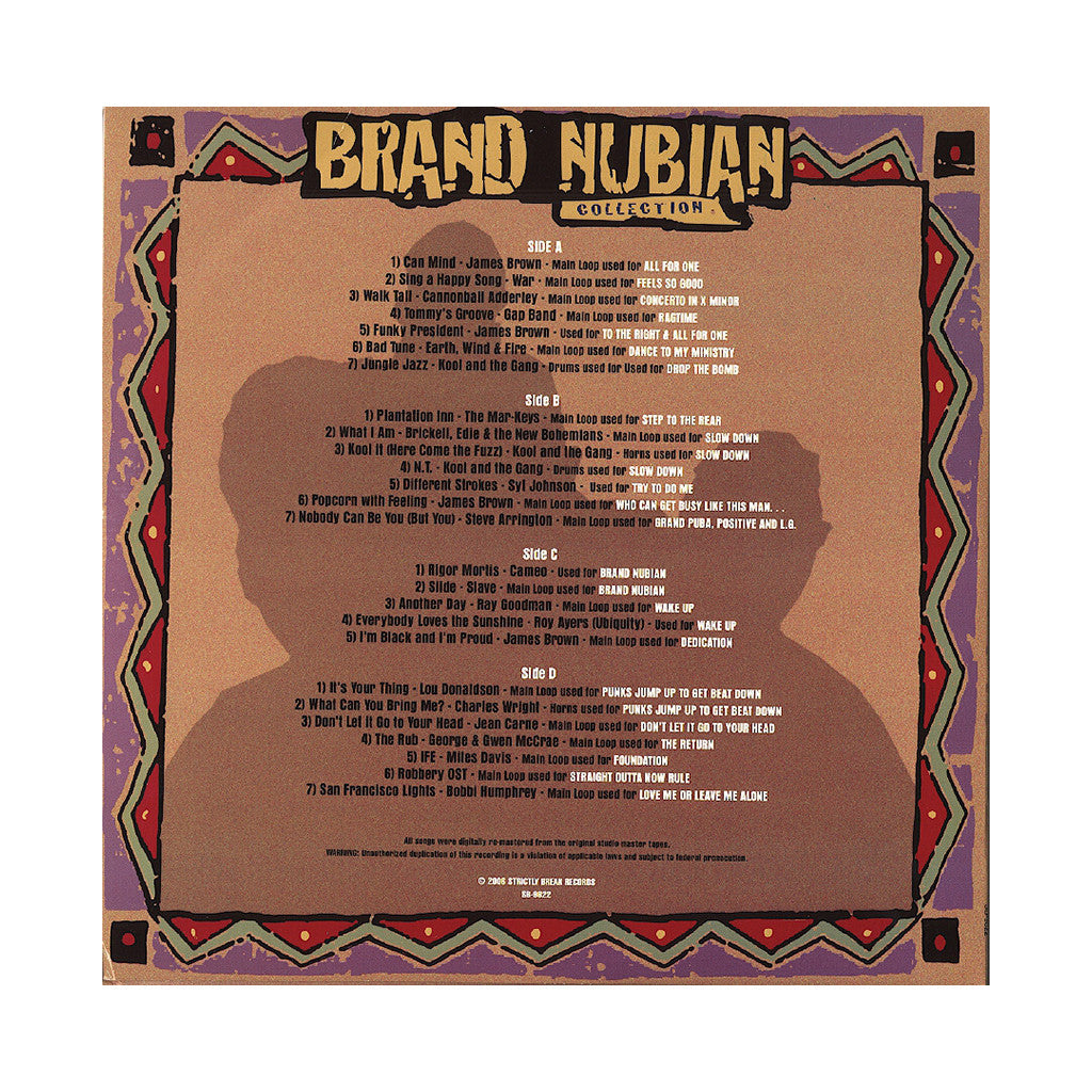 <!--2006120557-->Brand Nubian - 'The Brand Nubian Collection: 26 Original Full Lenth Songs Used By Brand Nubian (Original Samples)' [(Black) Vinyl [2LP]]