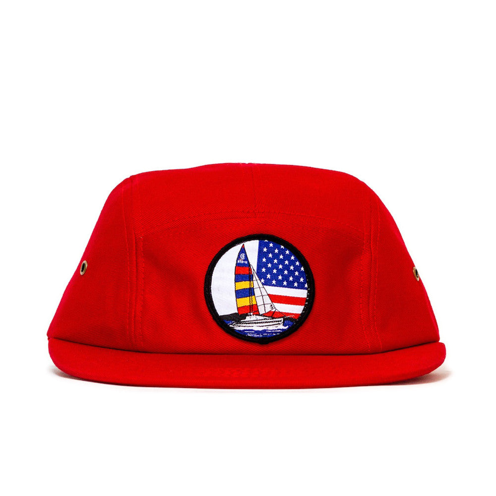 Sun Cycle Limited - 'Sailing Patch' [(Red) Five Panel Camper Hat]