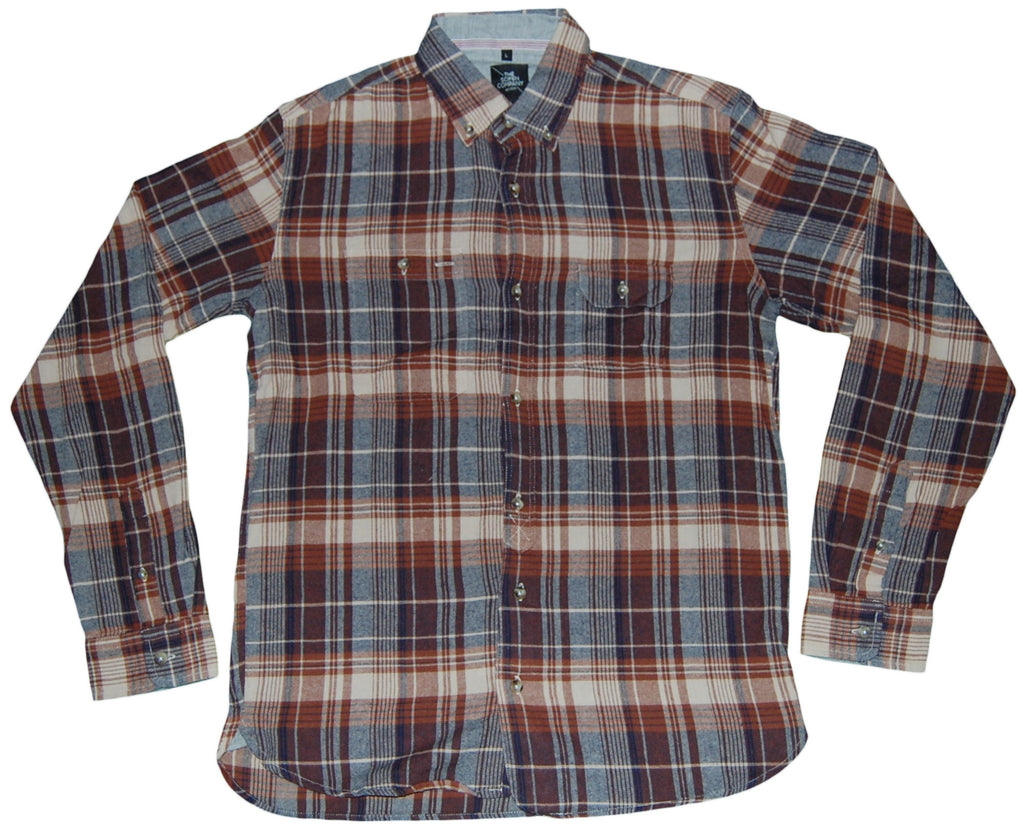 <!--2011110122-->The Scifen Company - 'Blueprint Flannel' [(Light Brown) Button Down Shirt]